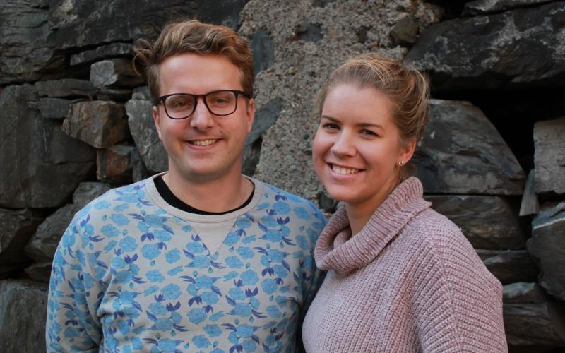 Geir Storli Jensen og Caroline Hop. Foto: Line Aas Mjøster