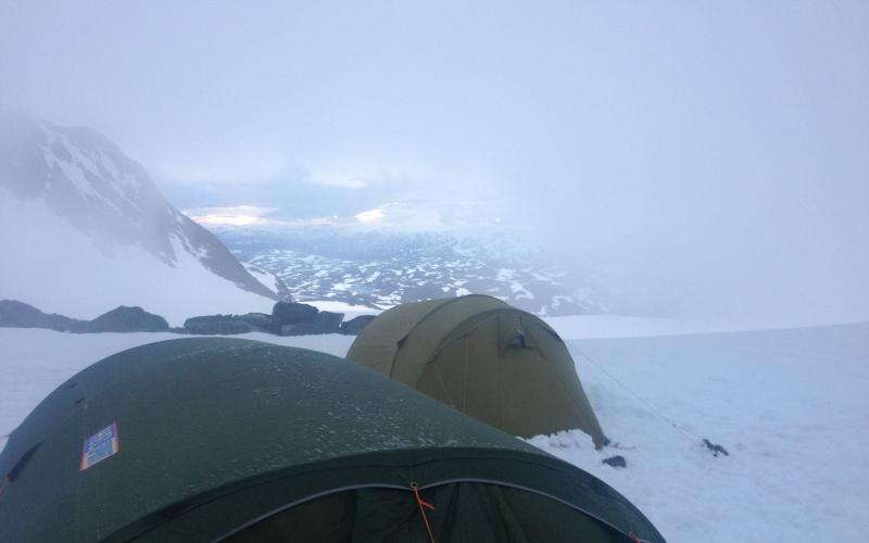 telt på fjellet