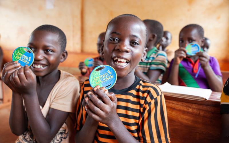 Speideraksjonen for flyktninger i Tanzania, barn på skolen