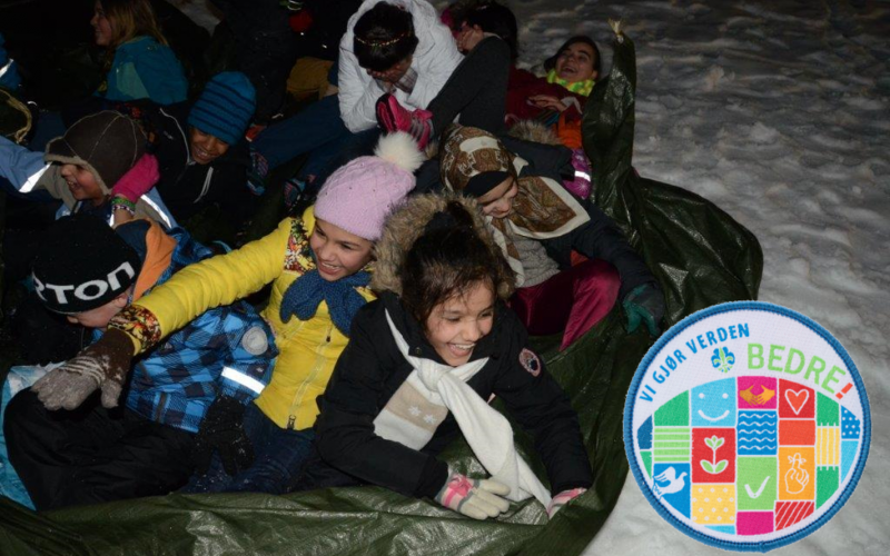 Asylbarn med Ulriken speidergruppe