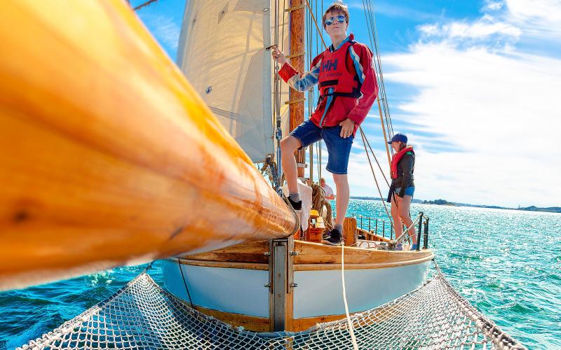 Sjøspeidere på seilskute. Foto: Kristian Lauvdal Strøm