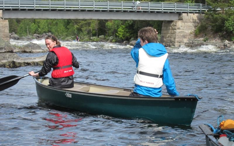 Fossekallen - speidere i kano