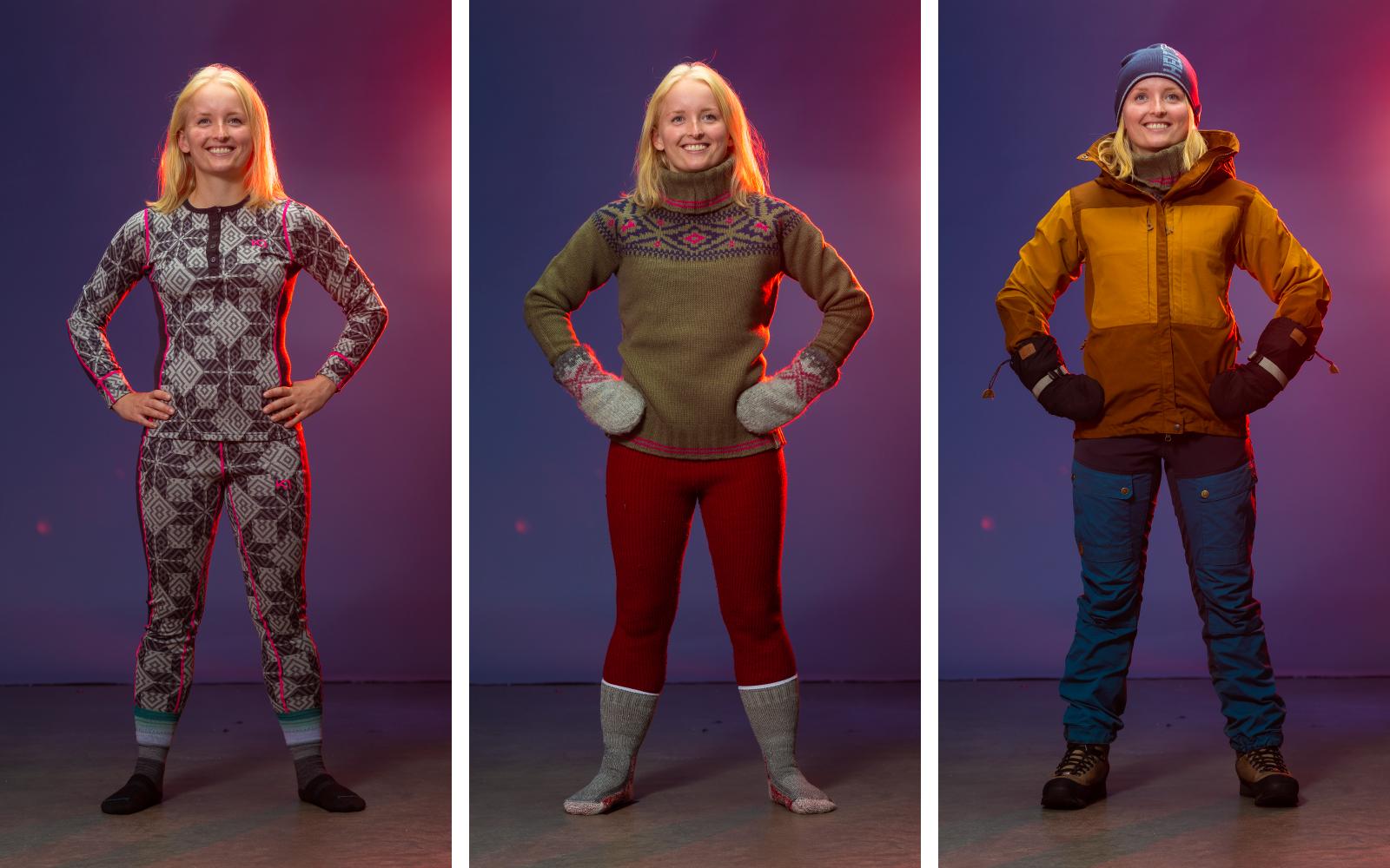 1b7f408d Å kle på seg lag for lag er ekstra viktig om vinteren. Du må kle på deg nok  til ikke å fryse, men klærne må være lette å ta av når du blir varm ...