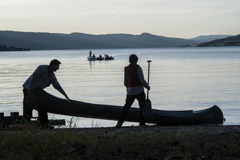Padle kano alene