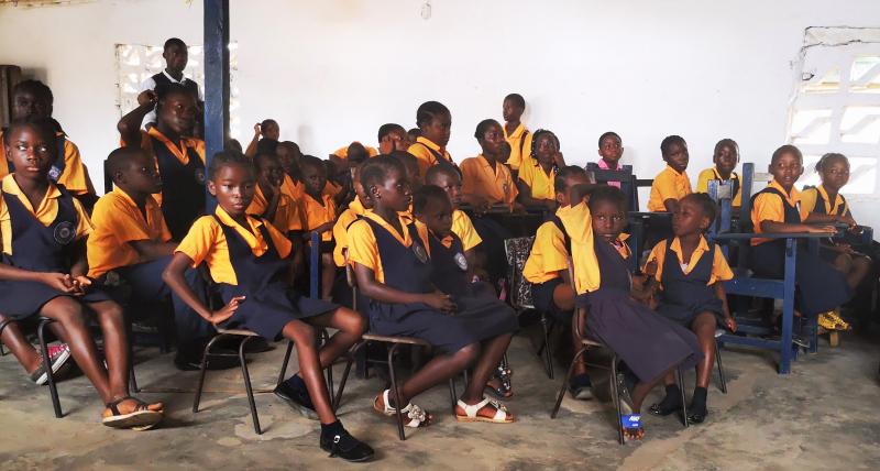 Klasserom i Liberia
