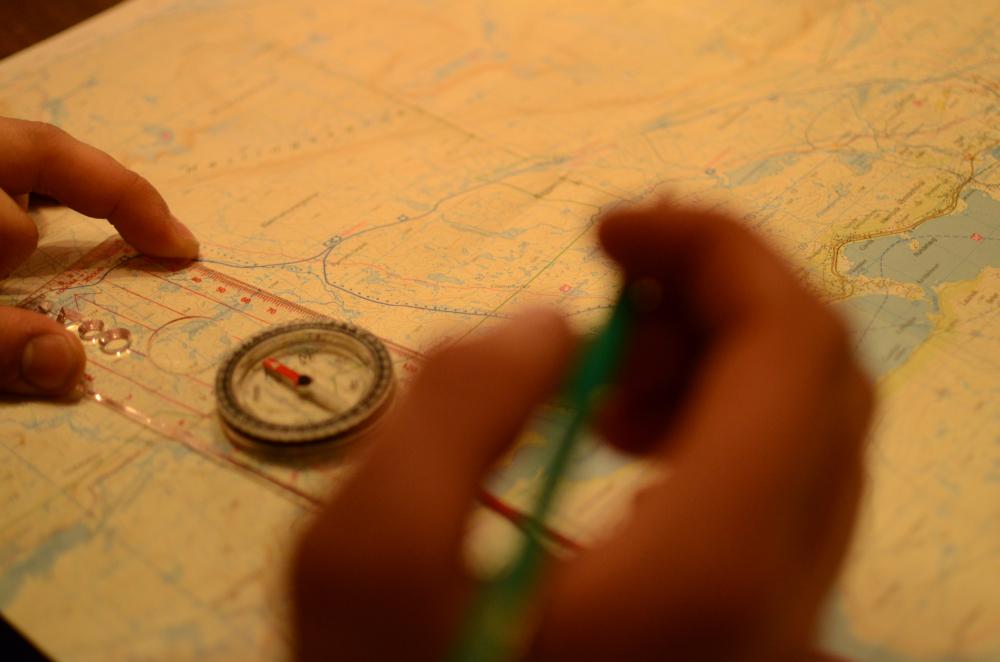 Leter på kartet