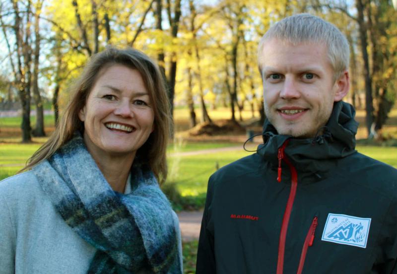 Line Aas Mjøster og Erling Husby er nye på forbundskontoret