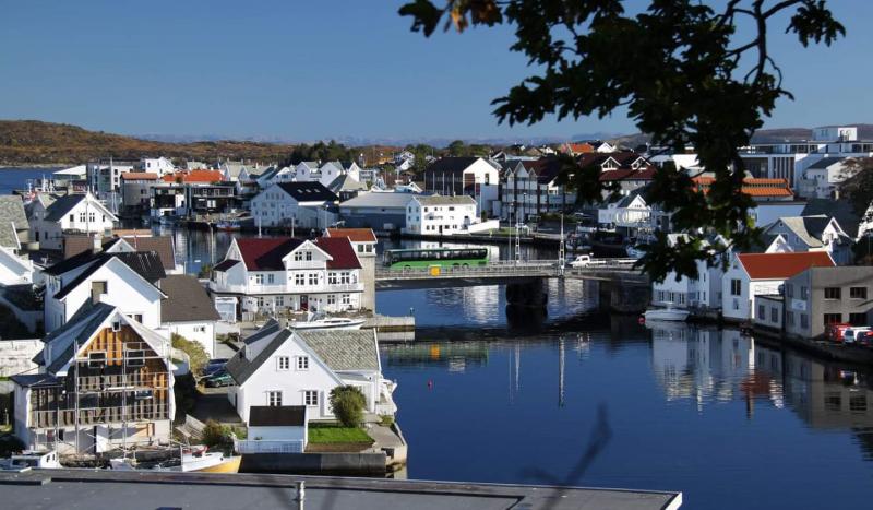 Bilde av Kopervik sentrum