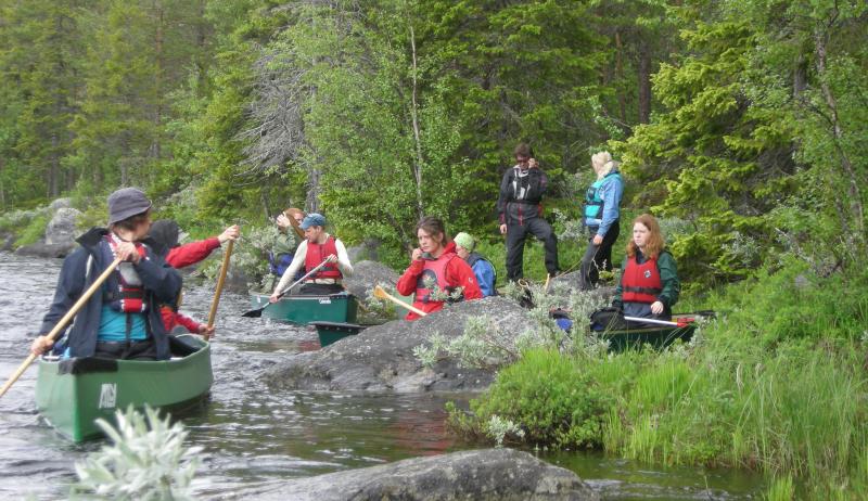 Kursdeltakere kano