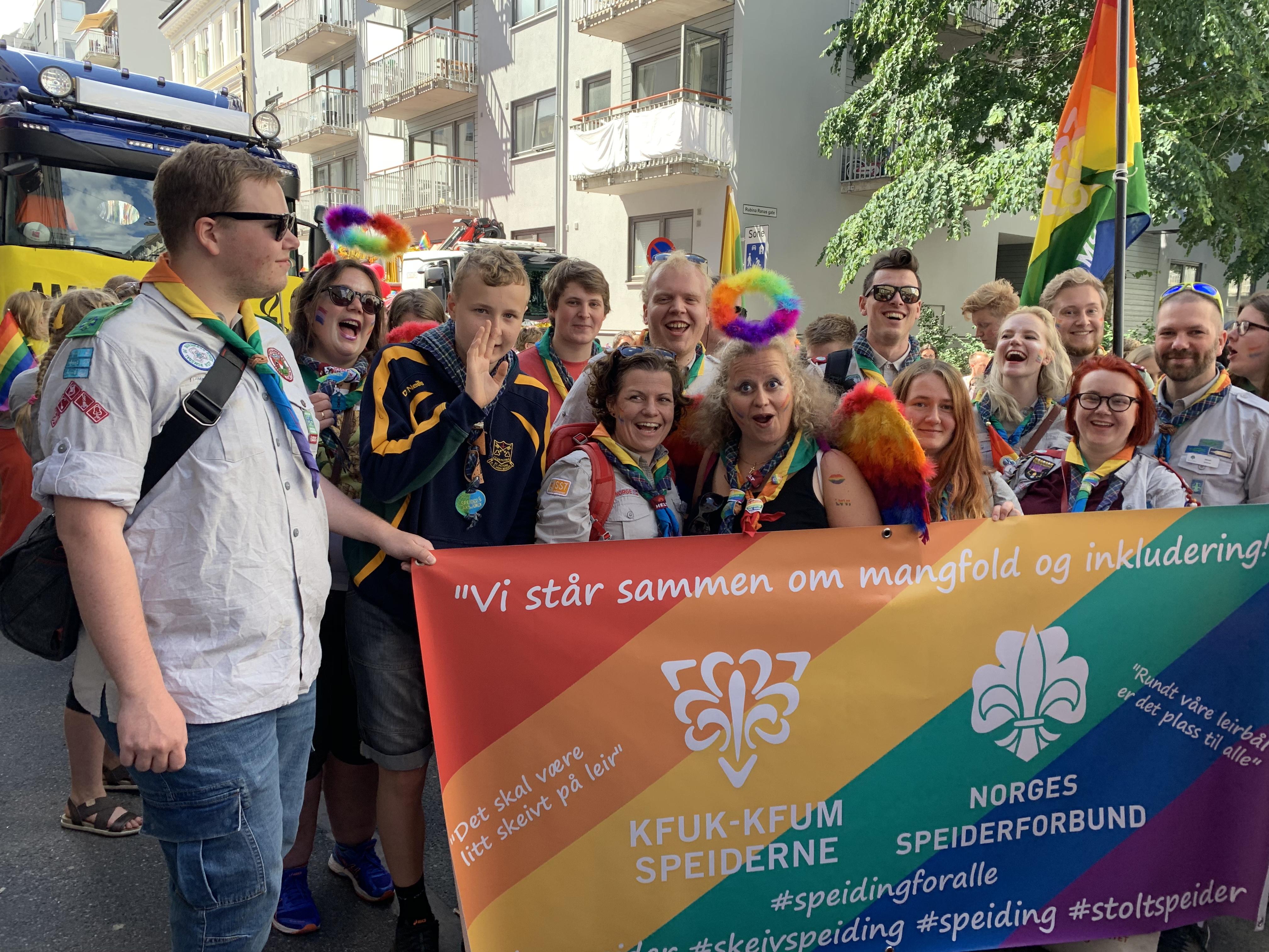Speiderne klare for Oslo Pride