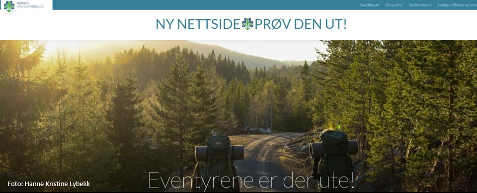 Ny nettsidemal for Norges speiderforbund