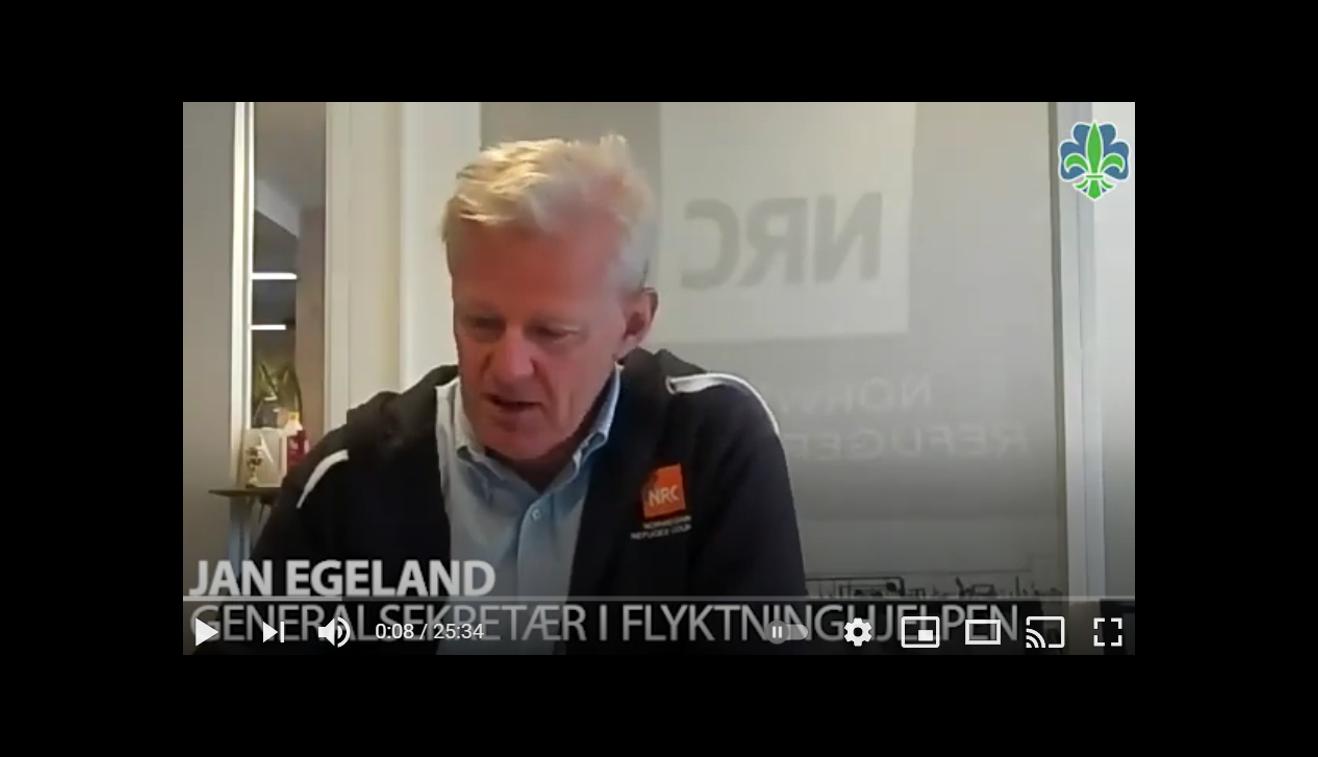 Jan Egeland i intervju om Speideraksjonen
